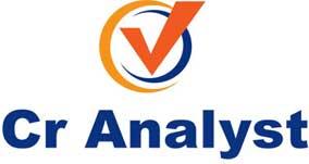 Logo su sfondo bianco CrAnalyst, software di analisi del PDF della centrale dei rischi